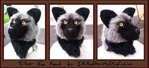 Silver Fox Fursuit Head