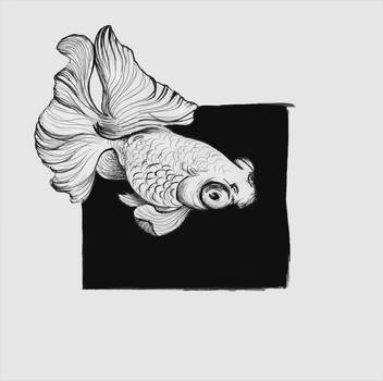 Inktober10 - flowing by Catakumba