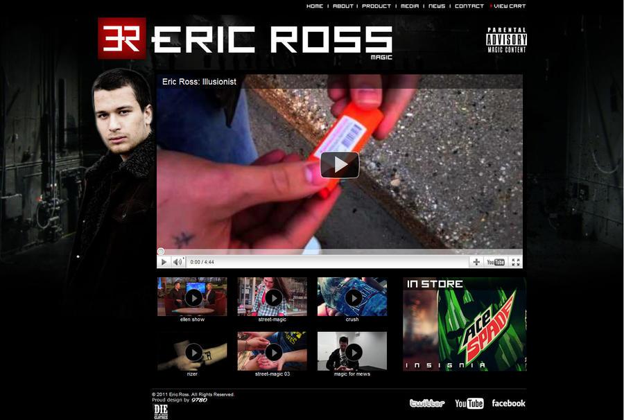 Eric Ross - Official Website by 9780design