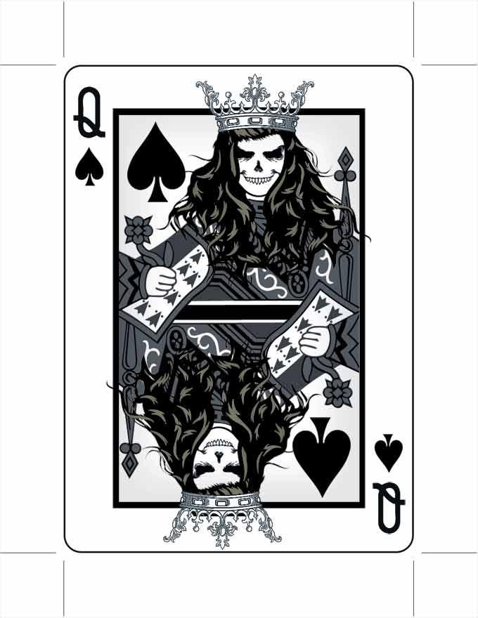 Queen of Spades by 9780design
