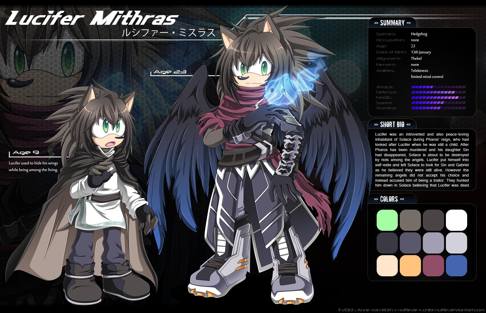 Lucifer Mithras - Ref Sheet by Chibi-Nuffie
