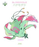 Beta Gold Demo Pokemon - Hanamogura / Blossomole by umidelmare