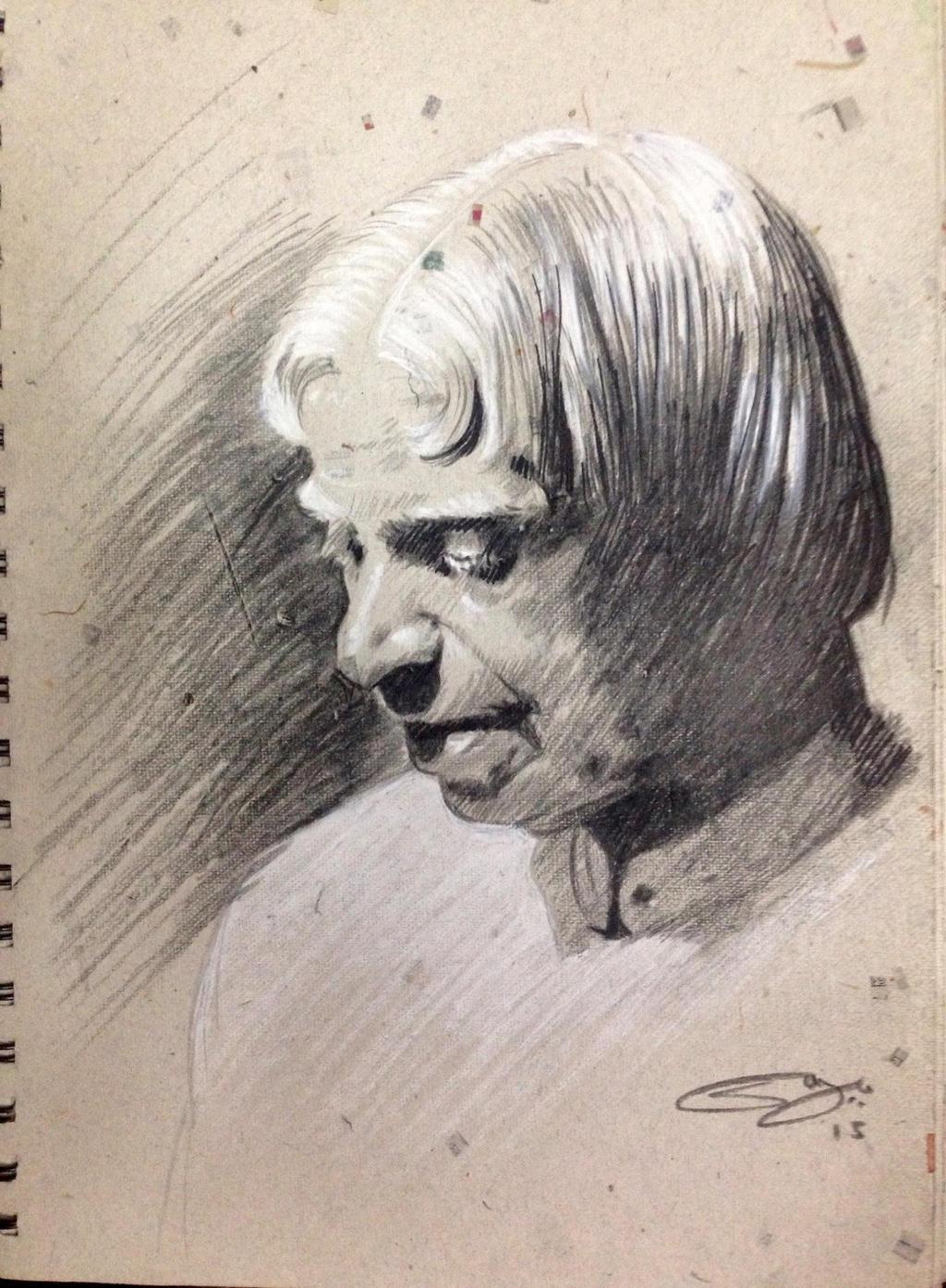 Dr. APJ Abdul Kalam Sir. by sanjun on DeviantArt