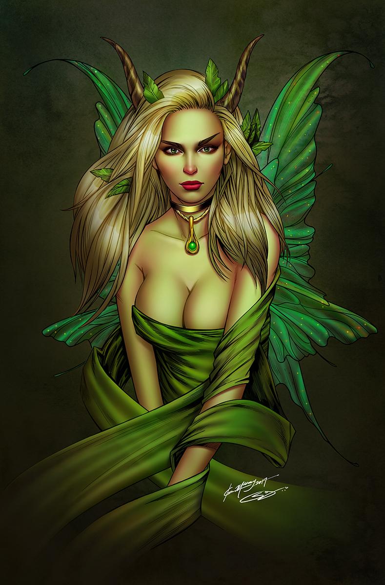 Green Sprite Fairy by sanjun