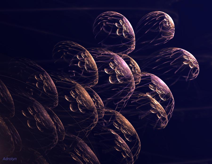 Medusae in Flight by Adrolyn
