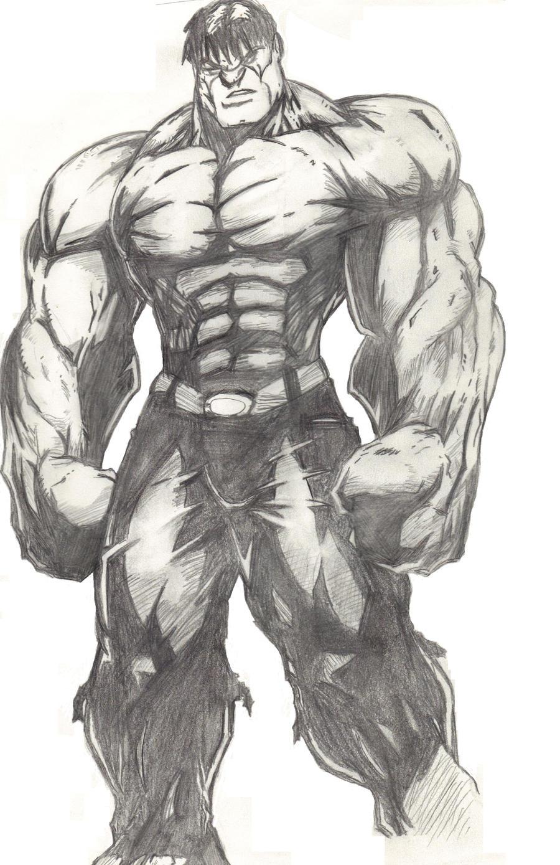 Incredible Hulk Cartoon Drawing