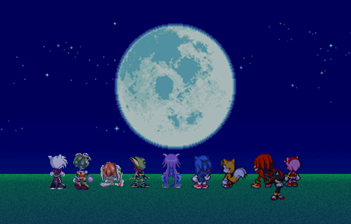 Art trade #5: Moon Watching with the crew by SynchroProdigy4300