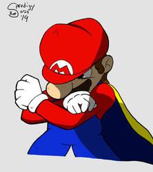 Cape Mario Anime Close-up