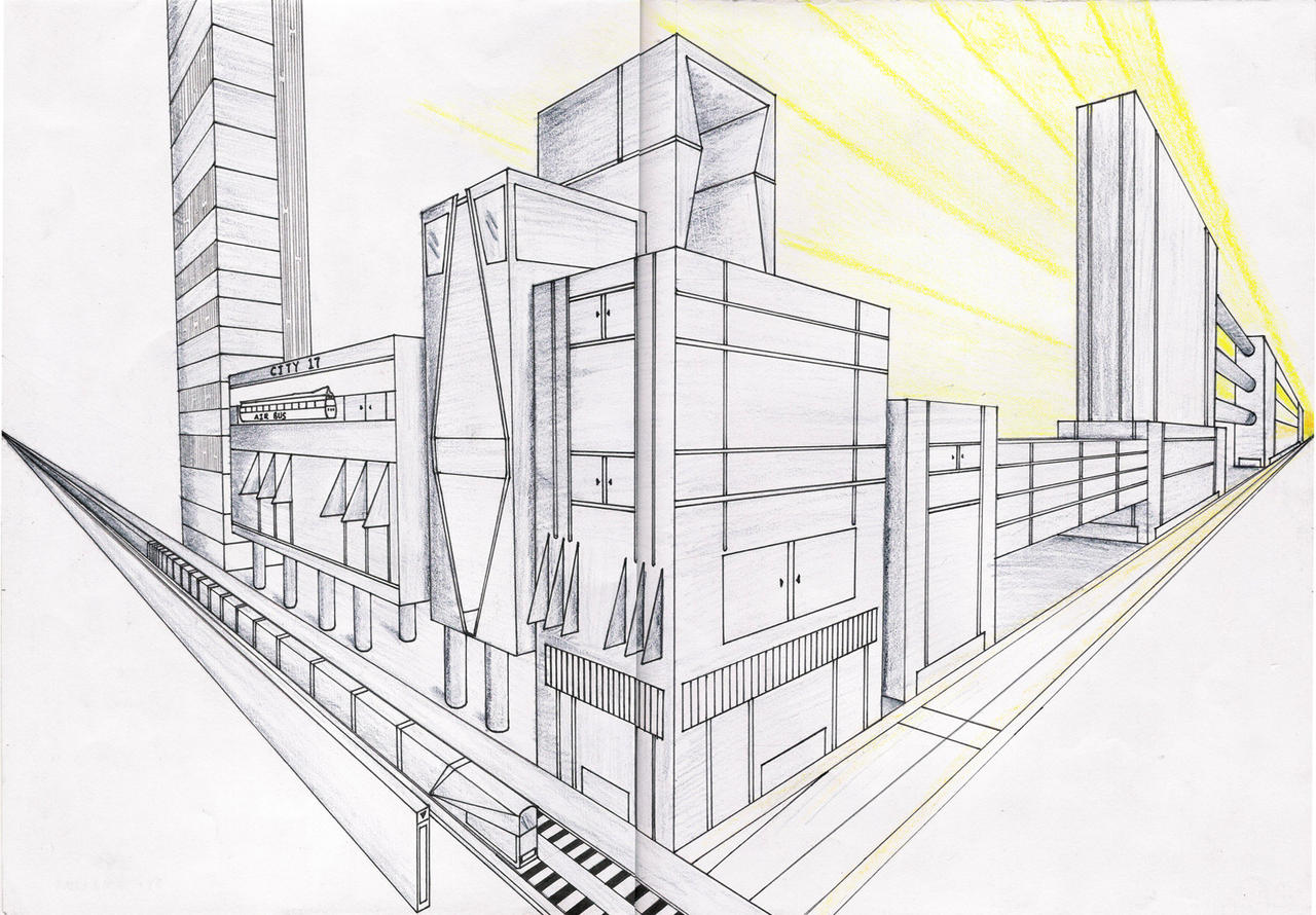 Futuristic City Drawing Drawing City Futuristic