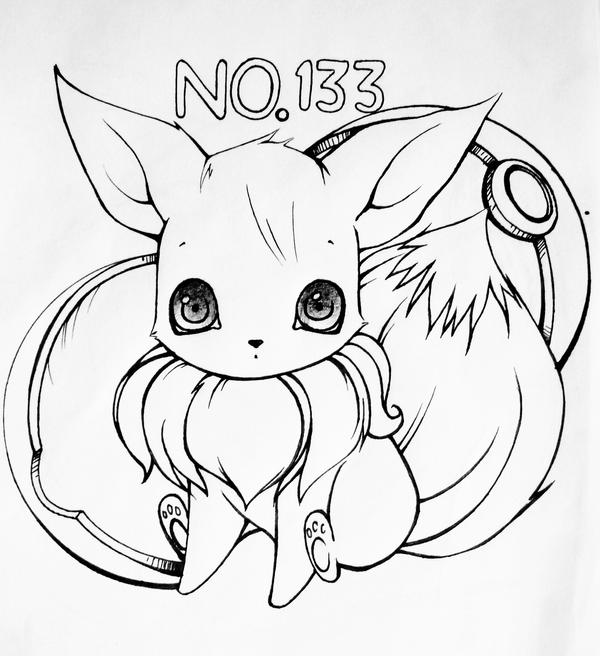 41+ Eevee Coloring Pages Background