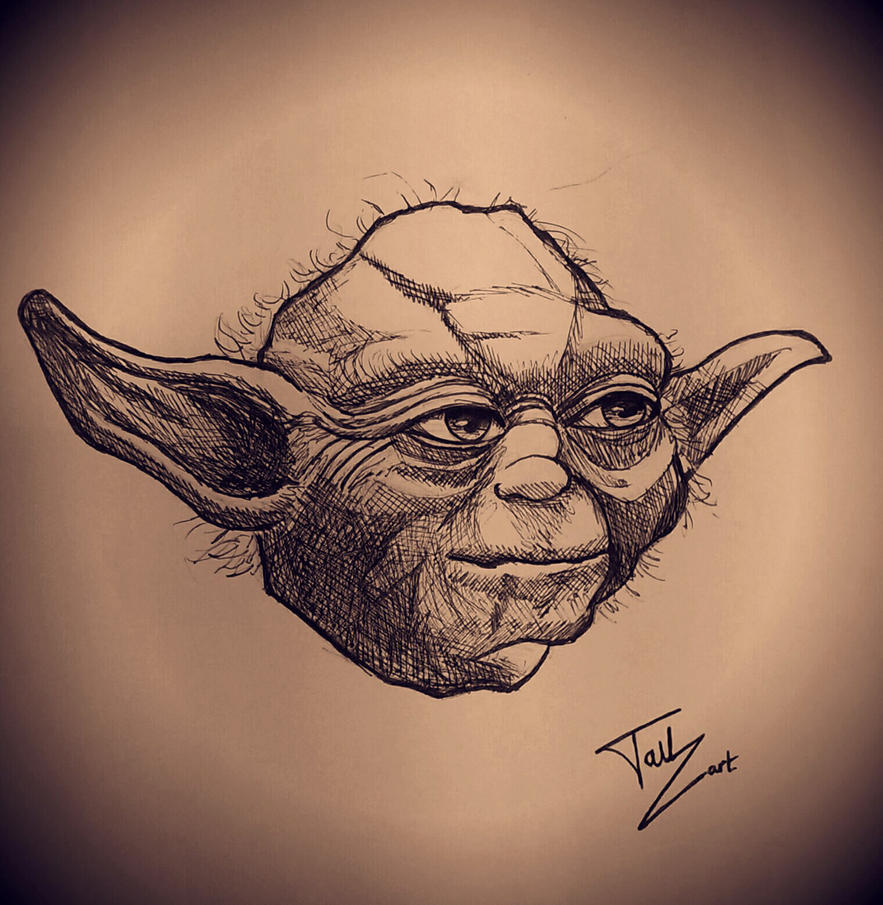 Quick sketch Yoda by 2TailZ9
