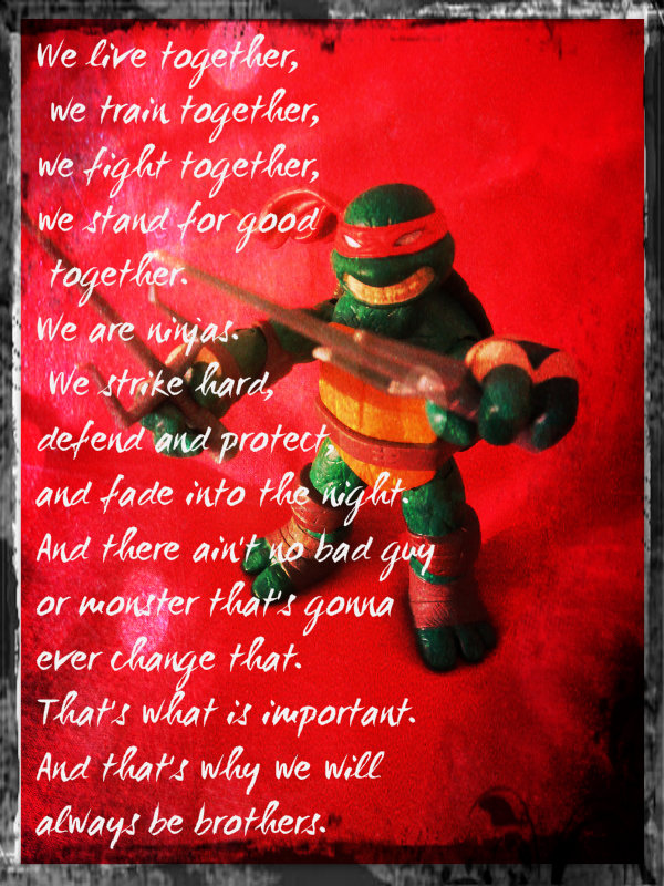 Tmnt Raph We Will Always Be Brothers By Culinary Alchemist On
