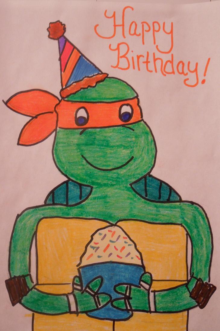 TMNT Birthday Mikey Rachelerica by CulinaryAlchemist on DeviantArt
