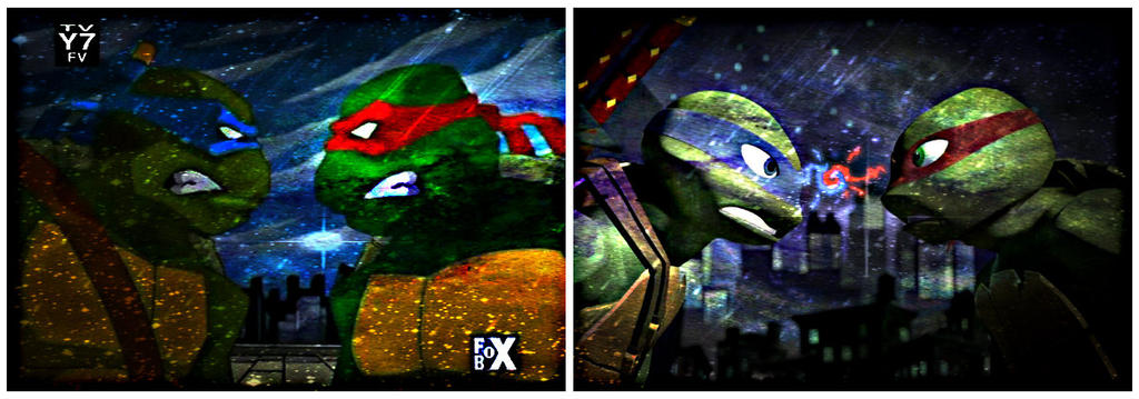Tmnt Leo And Raph 2003 Vs 2012 By Culinary Alchemist On Deviantart