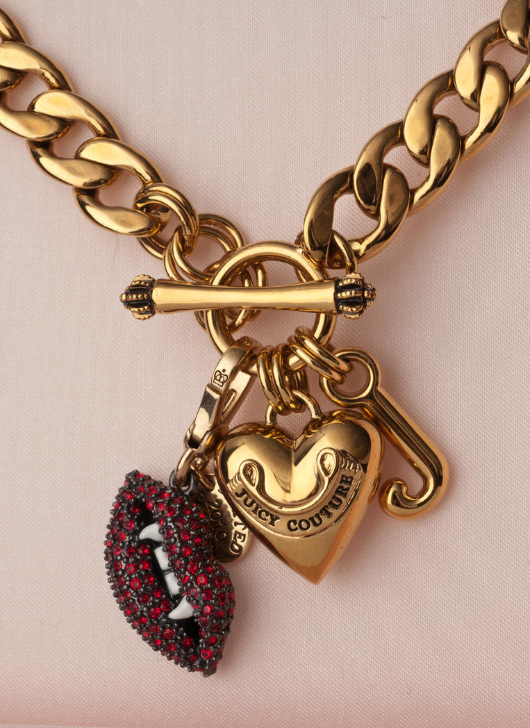 Juicy couture charm necklace by eliserawr on deviantart