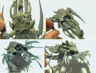 Battle Fleet Gothic - Hive ships WIP (Nids)