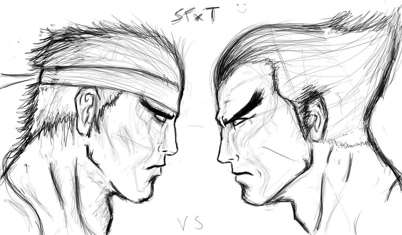 Ryu vs Kazuya 1 by sudafreekan