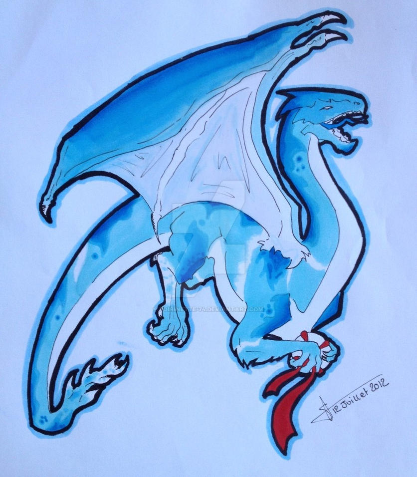 Blue Dragon by poirinette-74