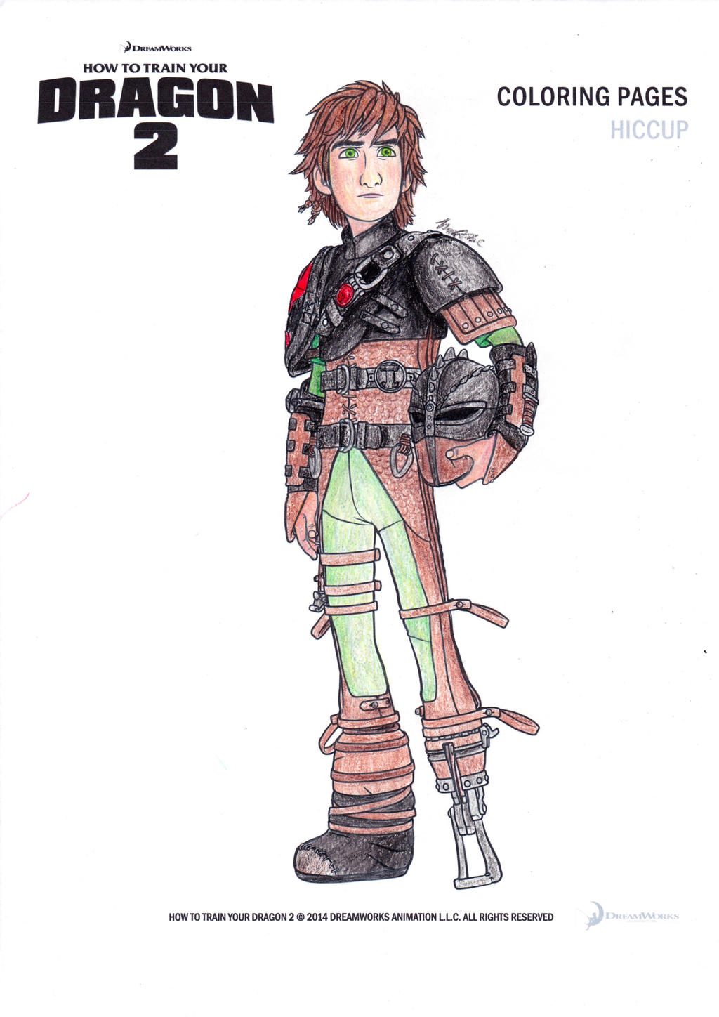 Colouring pages how to train your dragon - Hiccup Colouring Page By Angelartist10 On Deviantart