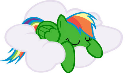 Rainbow Cloud Sleeping on a Cloud by TastetheRainbow111