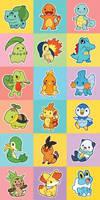 Pokemon Starters Gen 1-6