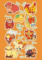 Fire Type Pokemon by miaow