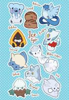 Ice Type Pokemon by miaow