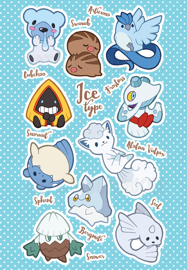 Ice type pokemon by miaow on deviantart ice type pokemon by miaow sciox Choice Image
