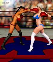Xiu Ying Hong vs Valerie Prescott,by GunnerSteve3d by IzunaOtoshi