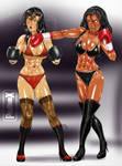 Esmeralda vs Jessica 2, by pugilismx