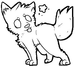 Chibi Wolf Lineart