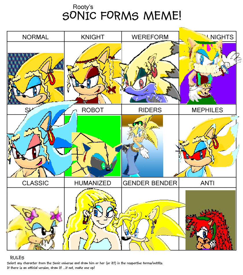 Sonic Forms: Sonic Form Meme-sonica By Natchaotix On DeviantArt
