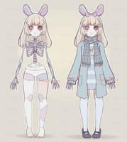 [CLOSED] Skeletal Bunny Doll Adopt