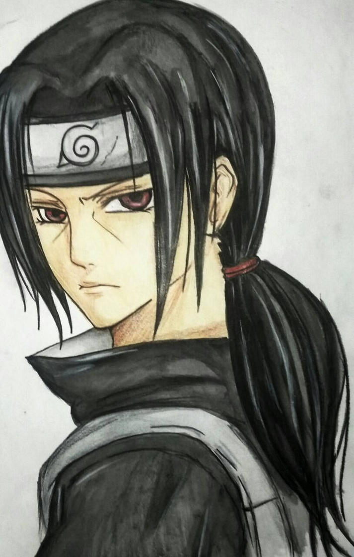 Itachi sketch by akakitsune00