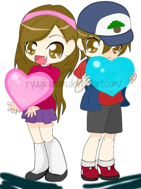 Mabel and Dipper - Gravity Falls by RyuujiKarami