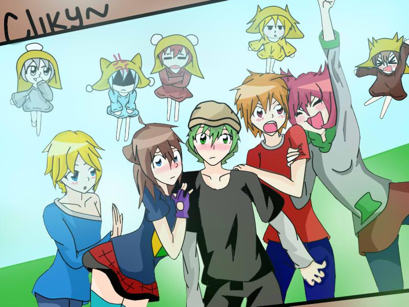 Yameki(taru),Kara(cechi),Akira(Oku)Roy(Kintu)Akire by RyuujiKarami