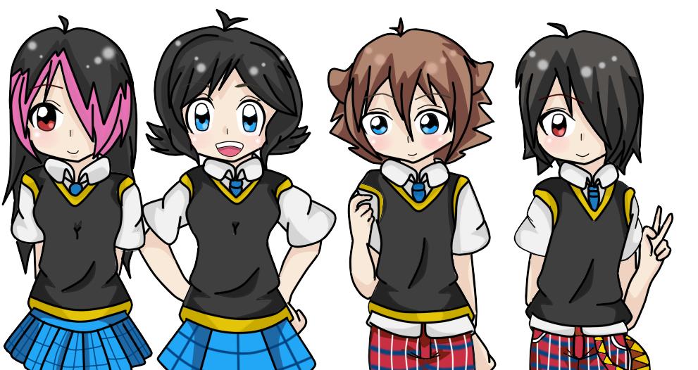 Hilary,karami,keichi,sadrak by RyuujiKarami