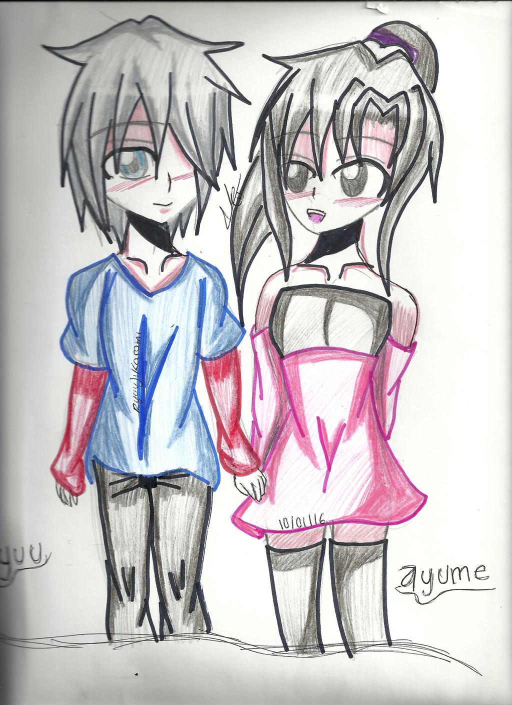 Yuu y Ayume by RyuujiKarami