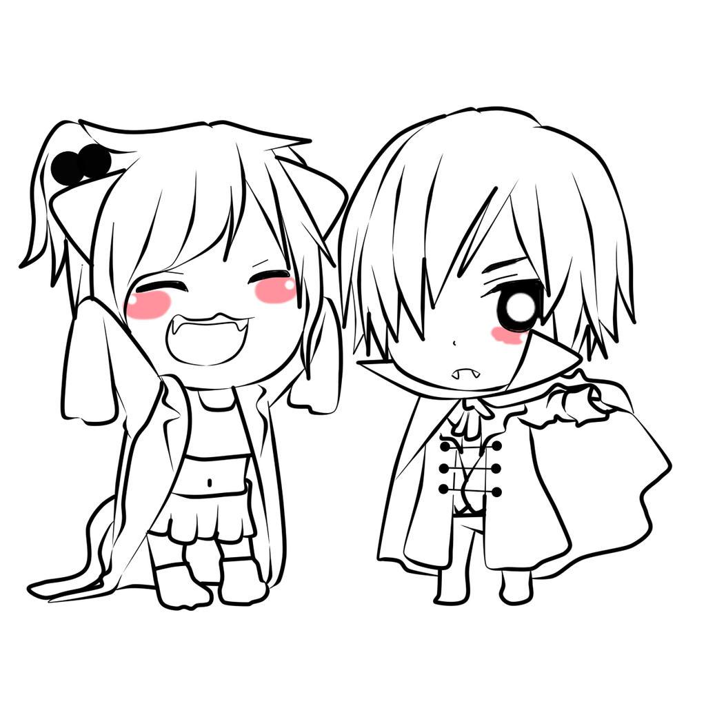 Sarai y Yagami by RyuujiKarami