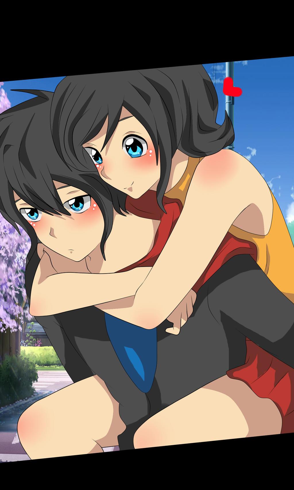 Zack y Karami by RyuujiKarami