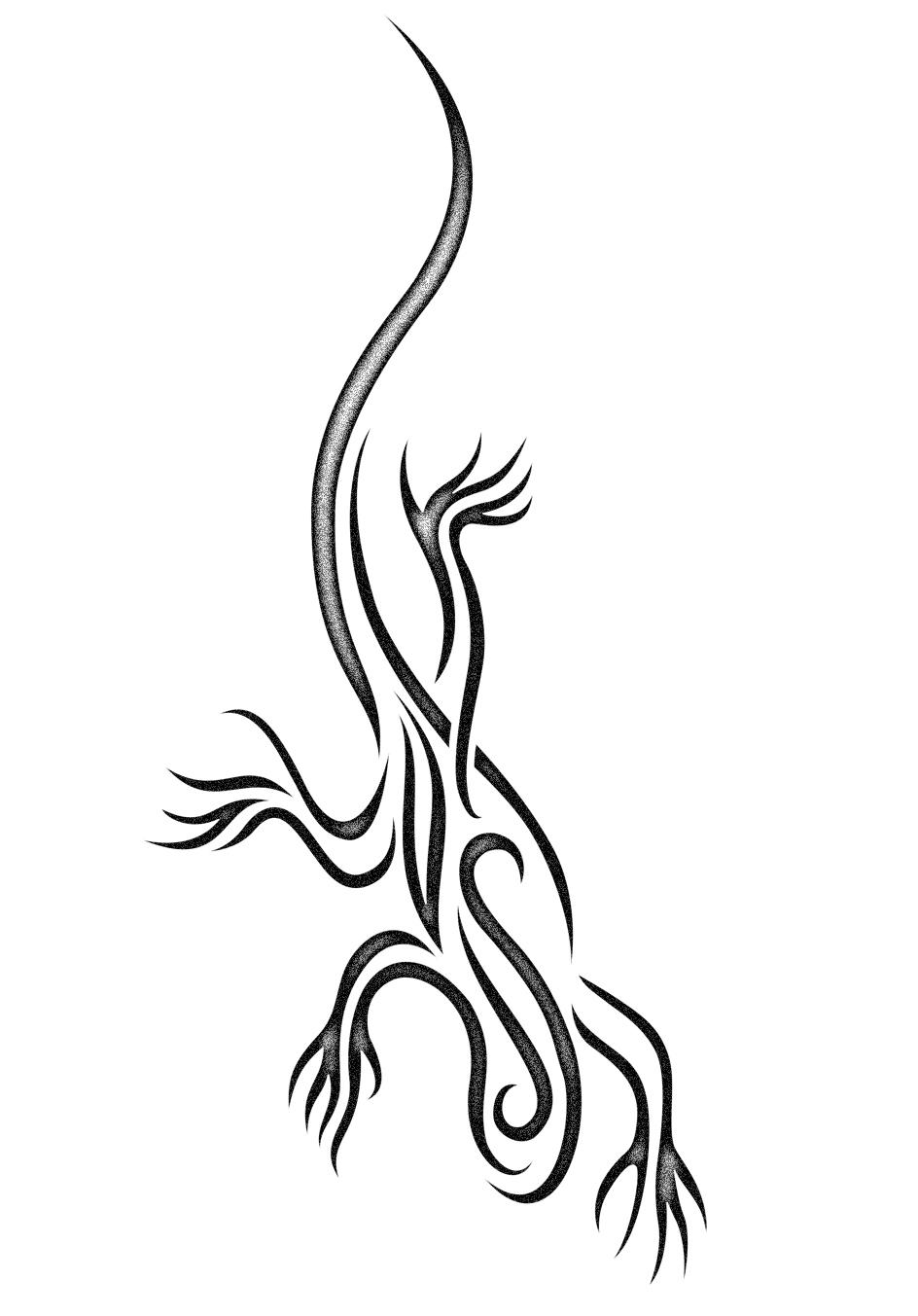lizard tattoo design by phoebus chango on deviantart. Black Bedroom Furniture Sets. Home Design Ideas
