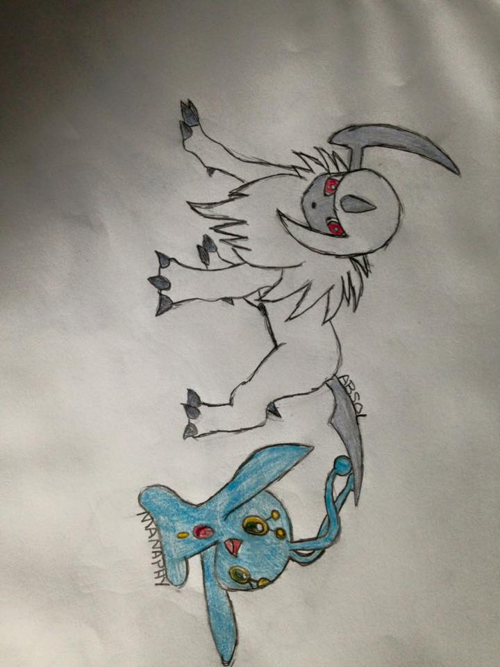 Absol and Manaphy by TheOddOne3