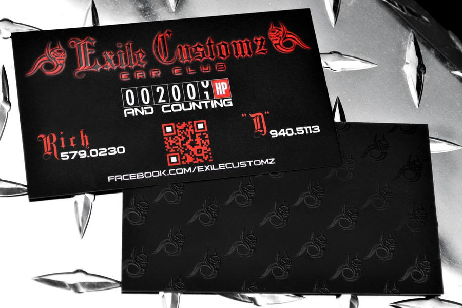 Exile Customz Business Cards
