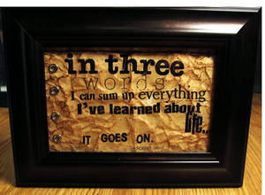Typography Collage Robert Frost Quote