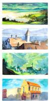 1-Hour Landscapes by nicholaskole