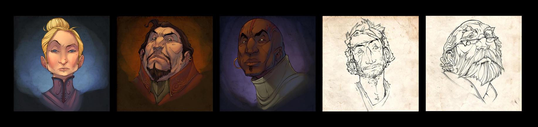 Abandoned Character Studies by nicholaskole