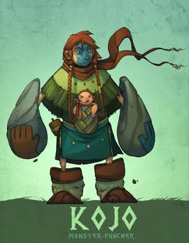 Kojo, monster-puncher by nicholaskole