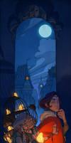 Twilight in Glo-frog City