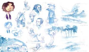 Sundry Watercolor Sketches 1 by nicholaskole