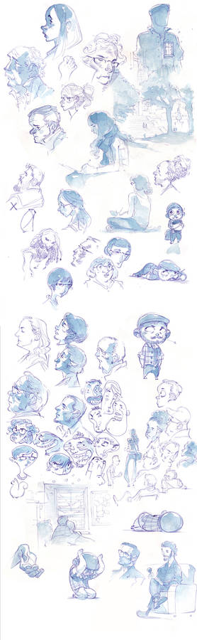 Watercolor Sketches from ICON7